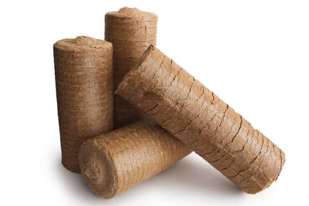 briquettes: Energy wood briquettes for fireplace and heater