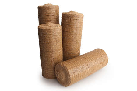 wood pellet: Energy wood briquettes for fireplace and heater