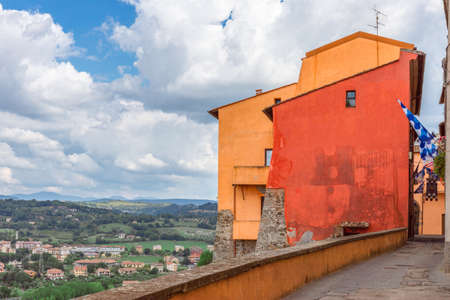 View of the umbrian hills from the terrace of the city of Orte