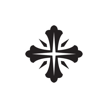 Vector illustration of the religious cross