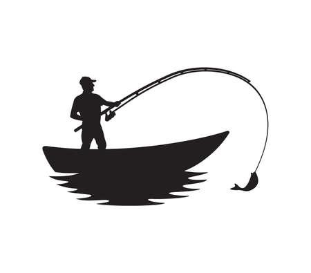 Vector illustration of the fisherman