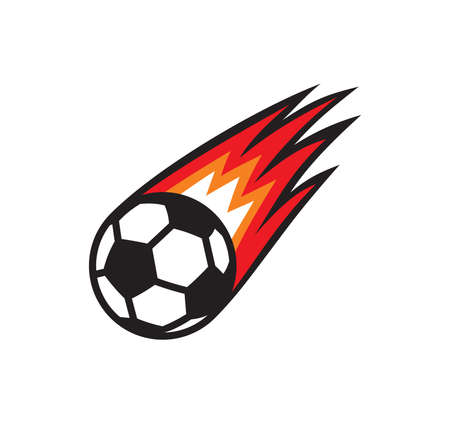 Vector illustration of the soccer ball on fire Illusztráció