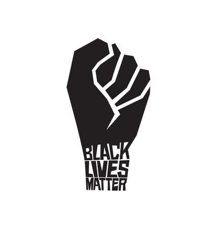 Vector illustration of the Black lives matter concept Иллюстрация