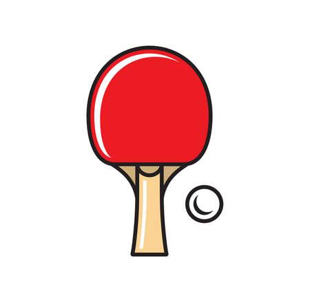 Vector illustration of the table tennis concept Ilustração Vetorial
