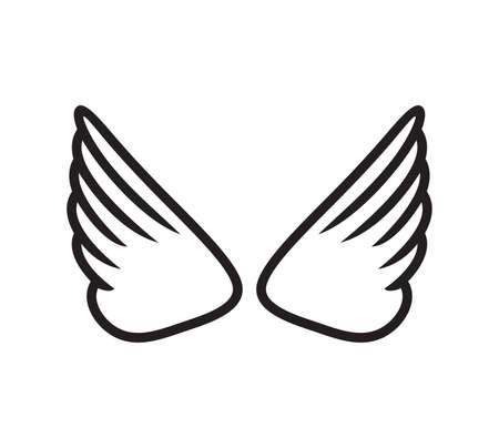 Vector illustration of the wings Ilustracje wektorowe