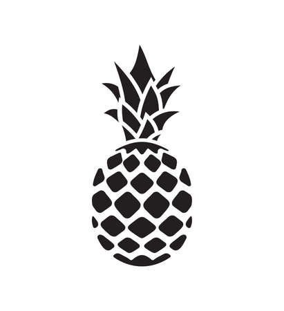 Vector illustration of the pineapple