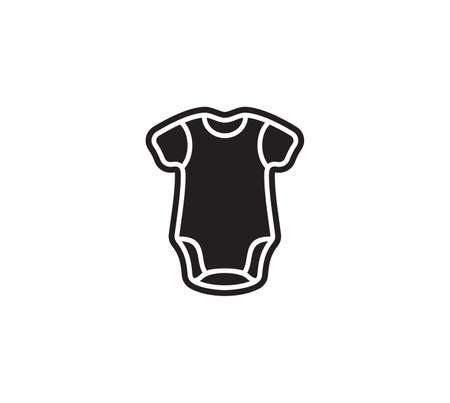 Vector illustration of the baby body suit Ilustração