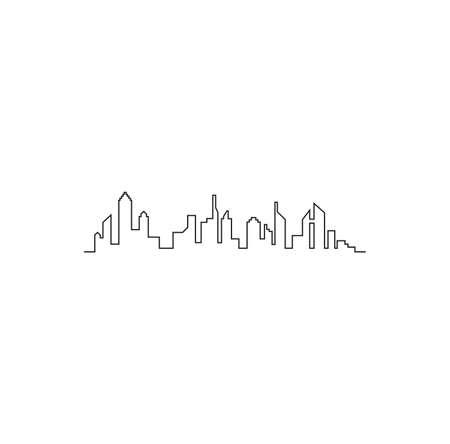 Vector illustration of the city skyline