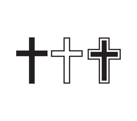 Vector illustration of the religious crosses 向量圖像