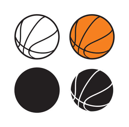 Vector illustration of the basketball balls 向量圖像