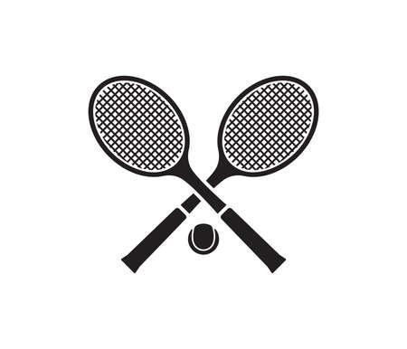Vector illustration of the tennis set