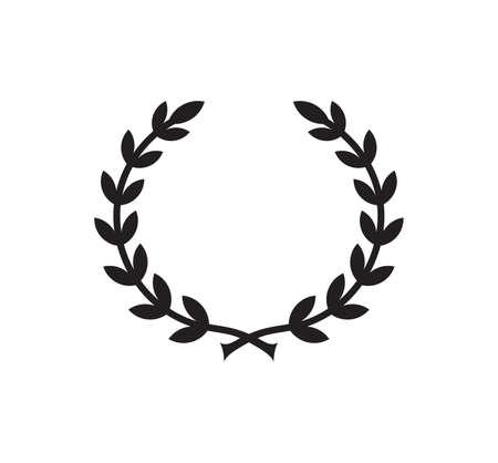 Vector illustration of the laurel wreath Ilustracje wektorowe