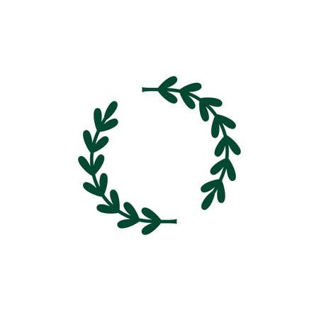 Vector illustration of the laurel monogram