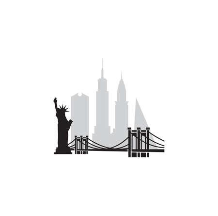 Vector illustration of the New York City skyline