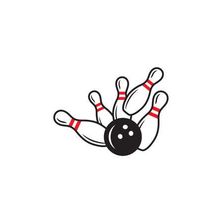 Vector illustration of the bowling
