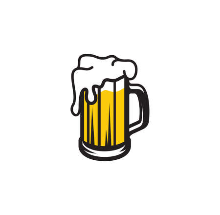 Vector illustration of the beer mug Illusztráció