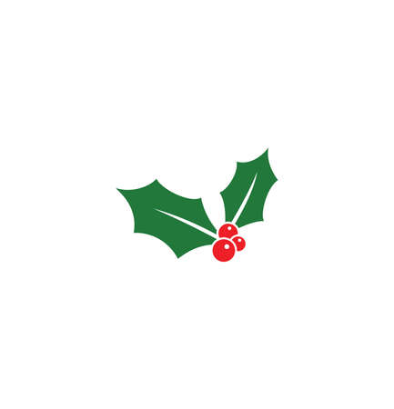 Vector illustration of the Christmas Holly Berry