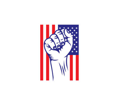Vector illustration of the USA revolution fist