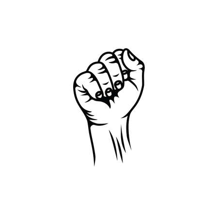 Vector illustration of the fist revolution