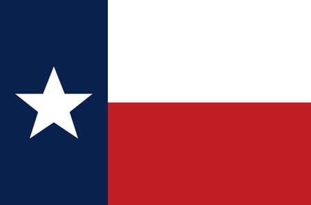 Vector illustration of the Texas flag