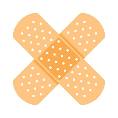 Vector illustration of the adhesive bandage