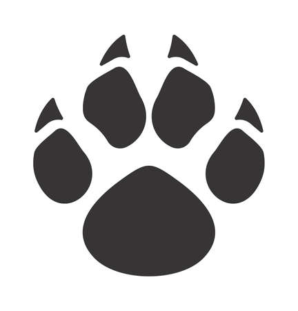 Vector illustration of the bear paw