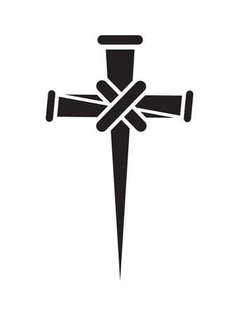 Vector illustration of the nail cross Vektorgrafik