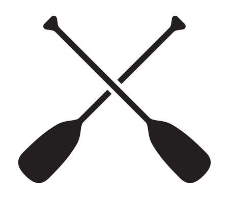 Vector illustration of the paddles