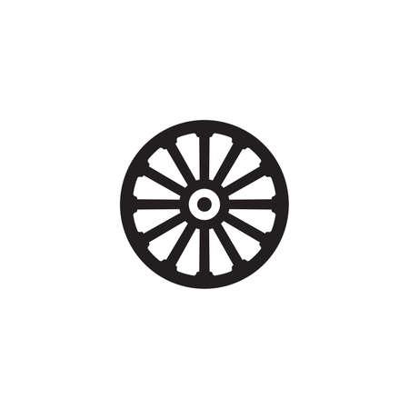 Vector illustration of the wagon wheel Vector Illustratie