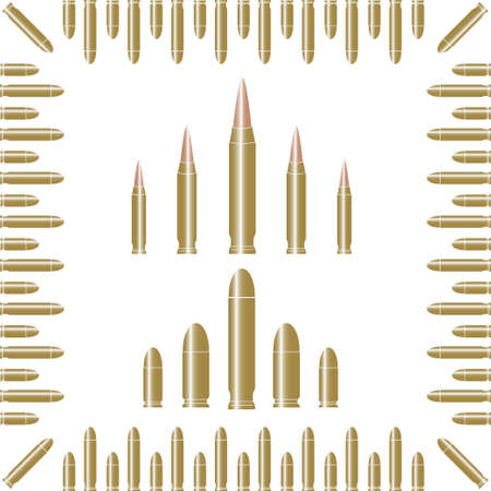 bullets, military Stock Vector - 5846561