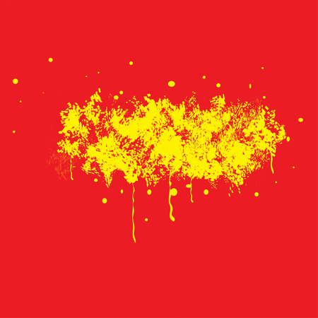 brush drawing: Yellow texture.