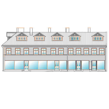 architecture, facade Illustration