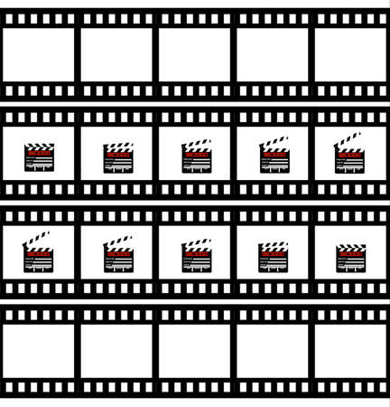 Cinemas clapper Illustration