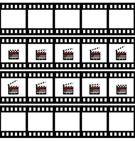 Cinemas clapper Illustration
