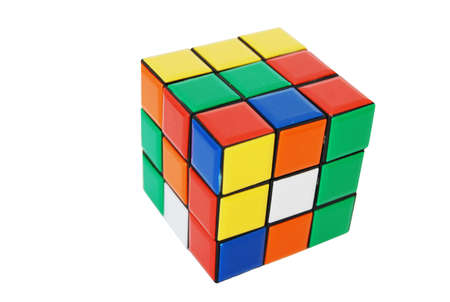Coloured cube Stock Photo