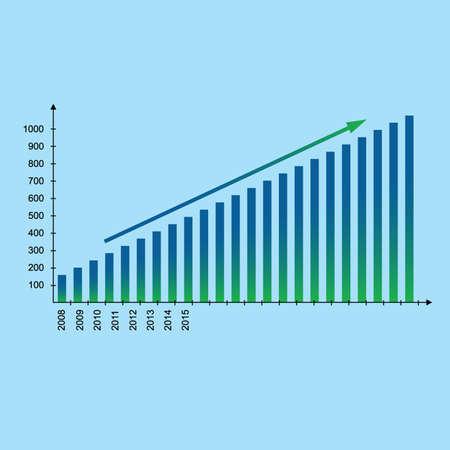 chart in economy Illustration