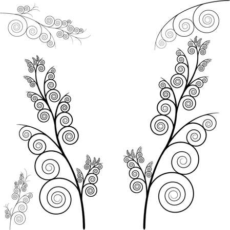 vector floral set Stock Vector - 5902024