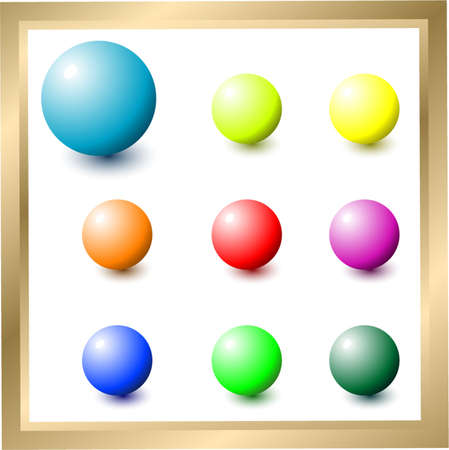 Colored balls Vector