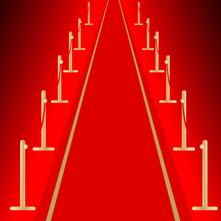 Red carpet Stock Vector - 5901970