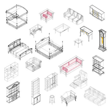 table set: Furniture Illustration
