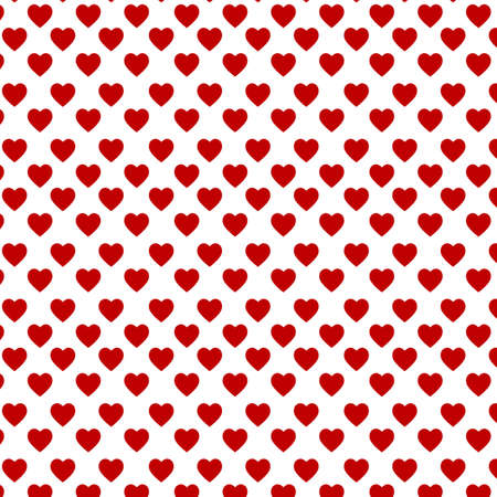 patterns and colors: Red hearts on the white backgound Illustration