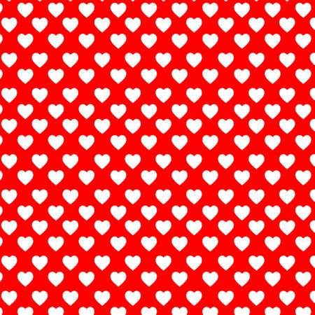 Weiß Hearts auf die rote backgound Vektorgrafik