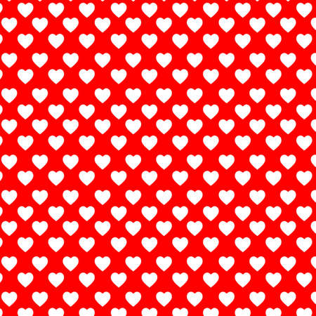 White hearts on the red backgound Vector