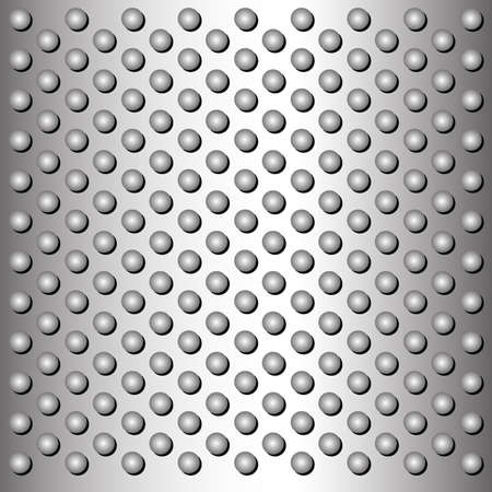 Metal plate with circles Illustration