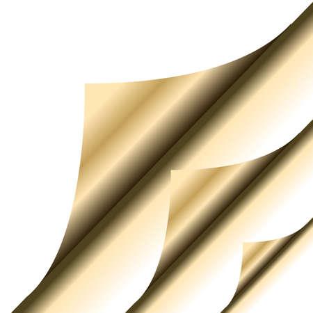 Gold paper corner Stock Vector - 5901907