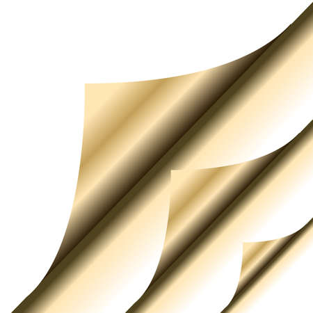 Gold paper corner