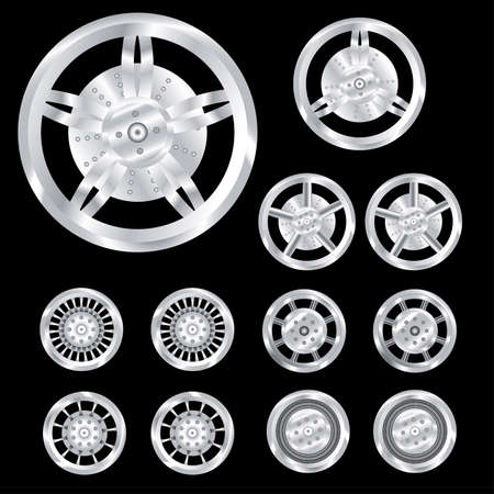 auto wheels, chrome Stock Vector - 5902029