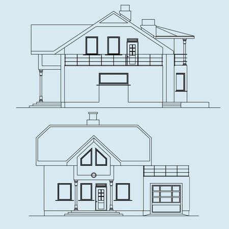 architecture, facade Illustration