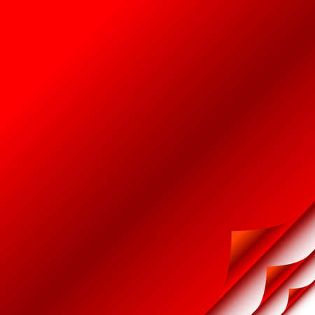 Red paper with corner Stock Vector - 5901908