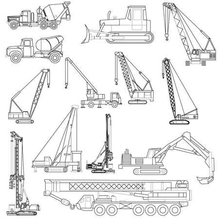 tow tractor: construction objects